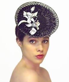 Fashion hat Grimaldi VI, a design by Melbourne milliner Louise Macdonald