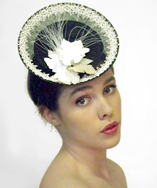 Fashion hat Grimaldi VII, a design by Melbourne milliner Louise Macdonald