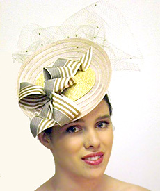 Fashion hat Grimaldi VIII, a design by Melbourne milliner Louise Macdonald