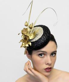 Fashion hat Lexington Avenue, a design by Melbourne milliner Louise Macdonald