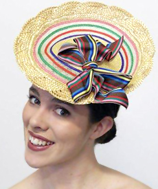 Fashion hat Lombardi, a design by Melbourne milliner Louise Macdonald