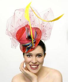 Fashion hat Uncle Louie, a design by Melbourne milliner Louise Macdonald