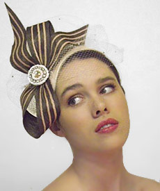 Fashion hat Princepesa, a design by Melbourne milliner Louise Macdonald