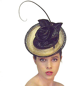 Fashion hat Grimaldi Royale, a design by Melbourne milliner Louise Macdonald