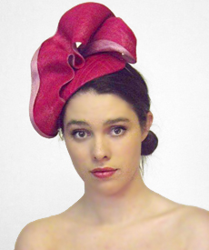 Fashion hat Strawberry Fields, a design by Melbourne milliner Louise Macdonald