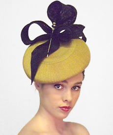 Fashion hat Williamsburg, a design by Melbourne milliner Louise Macdonald
