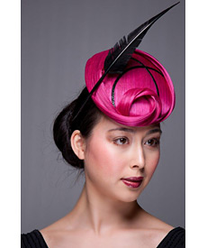 Fashion hat Sweet Briar Rose Beret, a design by Melbourne milliner Louise Macdonald