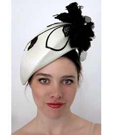 Fashion hat Lace Leaf Beret, a design by Melbourne milliner Louise Macdonald