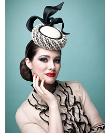 Fashion hat Elvis, a design by Melbourne milliner Louise Macdonald
