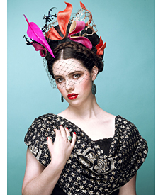 Fashion hat Frida, a design by Melbourne milliner Louise Macdonald