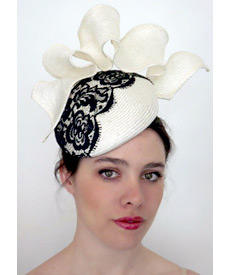 Fashion hat Tunica Lace, a design by Melbourne milliner Louise Macdonald