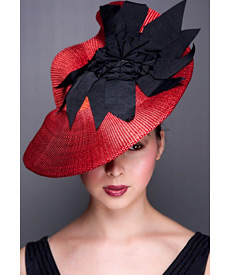 Fashion hat Monticello, a design by Melbourne milliner Louise Macdonald