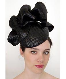 Fashion hat Opalescent Black Headpiece, a design by Melbourne milliner Louise Macdonald