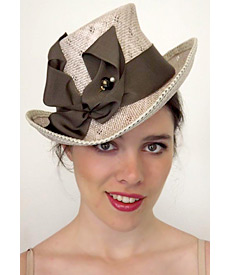 Fashion hat Victoria, a design by Melbourne milliner Louise Macdonald