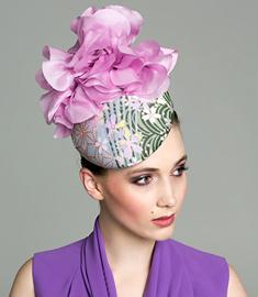Fashion hat Floral 'Agnes' Beret, a design by Melbourne milliner Louise Macdonald
