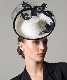 Fashion hat Sea Shanty, a design by Melbourne milliner Louise Macdonald