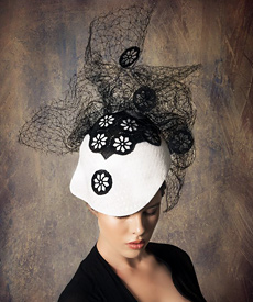 Melbourne Spring Racing - Louise Macdonald Milliner - Black and ... ae679ff9cea
