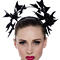 Fashion hat Black Patent Artemis Leather Halo, a design by Melbourne milliner Louise Macdonald