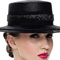 Fashion hat Black Boater, a design by Melbourne milliner Louise Macdonald
