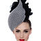 Fashion hat Black and White Gabrielle, a design by Melbourne milliner Louise Macdonald