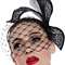 Fashion hat Black and White Paradise Birdcage Veil, a design by Melbourne milliner Louise Macdonald
