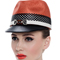 Fashion hat Orange Polo Cap, a design by Melbourne milliner Louise Macdonald