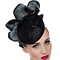 Fashion hat Black Sequin Headpiece, a design by Melbourne milliner Louise Macdonald