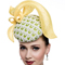 Fashion hat Silhouette in Lemon and Lime, a design by Melbourne milliner Louise Macdonald