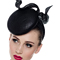 Fashion hat Black Stella, a design by Melbourne milliner Louise Macdonald