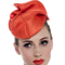 Fashion hat Orange Tango Headpiece, a design by Melbourne milliner Louise Macdonald
