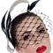 Fashion hat Black and White Wren Birdcage Veil, a design by Melbourne milliner Louise Macdonald