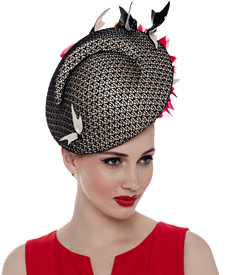 Fashion hat Mutia Headpiece, a design by Melbourne milliner Louise Macdonald