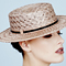 Fashion hat Brown Sugar Clarice Boater, a design by Melbourne milliner Louise Macdonald