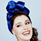Fashion hat Calypso Turban, a design by Melbourne milliner Louise Macdonald