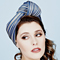 Fashion hat Candice Turban in Blue and Natural, a design by Melbourne milliner Louise Macdonald