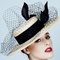 Fashion hat Echo Boater, a design by Melbourne milliner Louise Macdonald