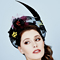 Fashion hat Headra Headpiece in Black, a design by Melbourne milliner Louise Macdonald