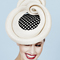 Fashion hat Masonaba in Cream and Black, a design by Melbourne milliner Louise Macdonald