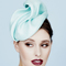 Fashion hat Mint Sega Headpiece, a design by Melbourne milliner Louise Macdonald