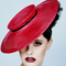 Fashion hat Raspberry Tamika, a design by Melbourne milliner Louise Macdonald