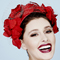 Fashion hat Red Floral Halo, a design by Melbourne milliner Louise Macdonald