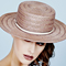 Fashion hat Toffee Apple Clarice Boater, a design by Melbourne milliner Louise Macdonald