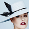 Fashion hat Zina in Pale Blue, a design by Melbourne milliner Louise Macdonald