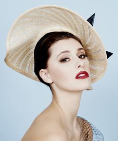 Fashion hat Adiva, a design by Melbourne milliner Louise Macdonald