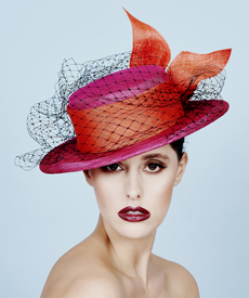 Fashion hat Birdie Boater, a design by Melbourne milliner Louise Macdonald