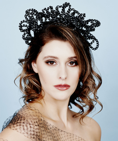Fashion hat Harmony Halo, a design by Melbourne milliner Louise Macdonald