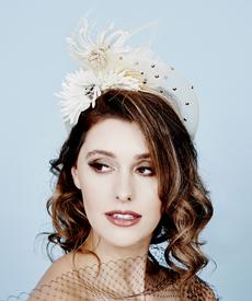 Fashion hat Ladasha Halo, a design by Melbourne milliner Louise Macdonald
