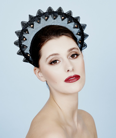 Fashion hat Liberty Crown, a design by Melbourne milliner Louise Macdonald