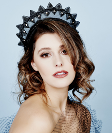 Fashion hat Liberty Halo, a design by Melbourne milliner Louise Macdonald