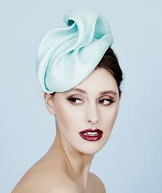 Fashion hat Mint Sega Headpiece, a design by Melbourne milliner Louise Macdonald